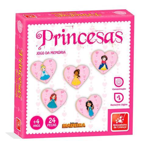 Jogo da Memória Princesas - Brincadeira de Criança