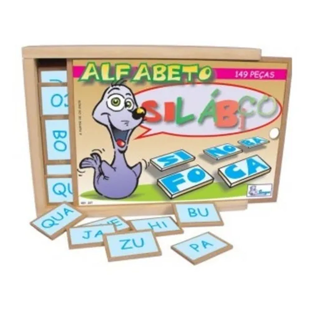 Alfabeto Silábico 149 Peças MDF - Simque