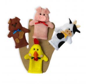 Animais Fazenda - Dedoche - Grillo Brinquedos