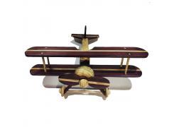 Avião Bi-Plano - Grillo Brinquedos - Madeira