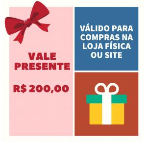 VALE PRESENTE LOJA PINÓQUIO - R$200,00