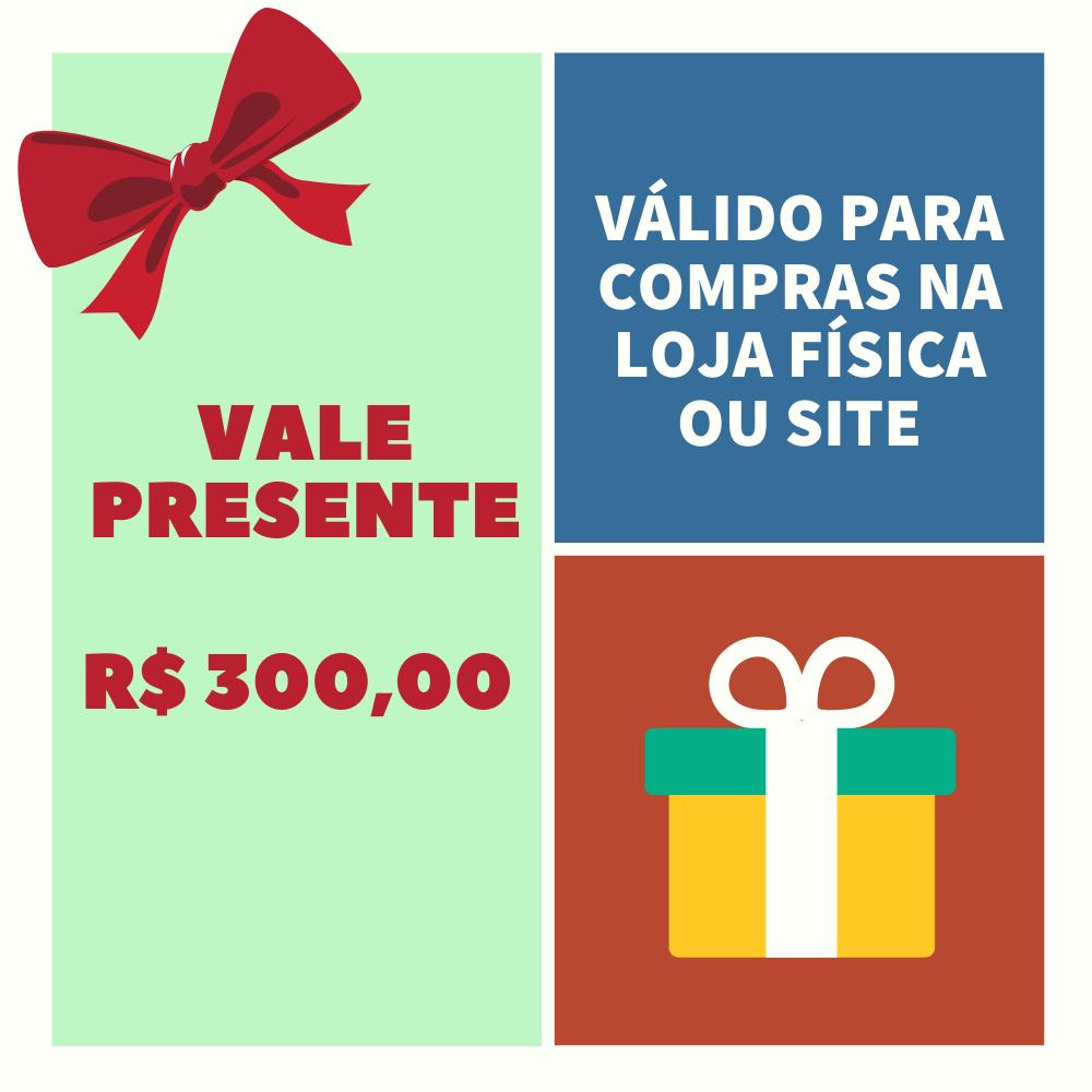 VALE PRESENTE LOJA PINÓQUIO - R$300,00