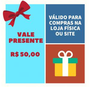 VALE PRESENTE LOJA PINÓQUIO - R$100,00