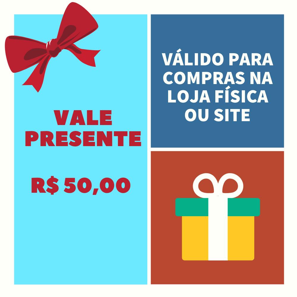 VALE PRESENTE LOJA PINÓQUIO - R$ 50,00