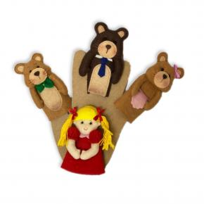 Cachinhos Dourados e os Três Ursos - Dedoche - Grillo Brinquedos