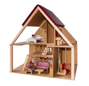 Casa de Boneca - Chalé com Móveis - Bohney