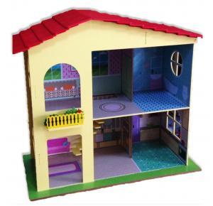 Casinha de Boneca Madeira Duo Adesivada - Grillo Brinquedos