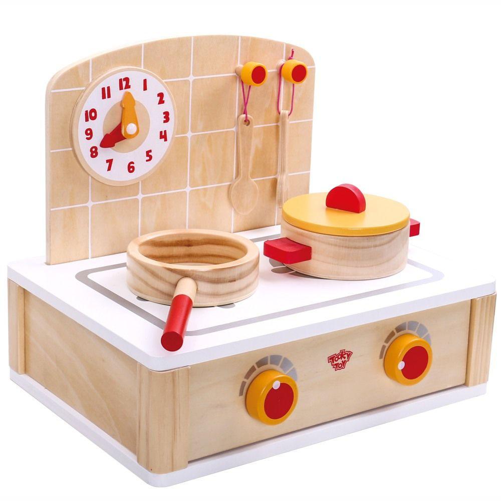 Conjunto Cozinha De Madeira - Tooky Toy