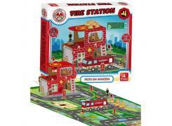 Fire Station 39 Peças - Brincadeira De Criança