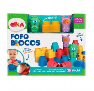 Fofo Blocos 35 Peças - Elka