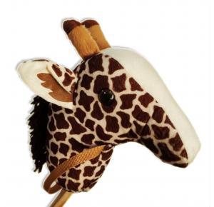 Girafa com Rodinha em Madeira - BrinqueMás