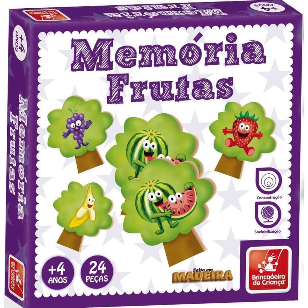 Jogo Memória Frutas - Brincadeira De Criança