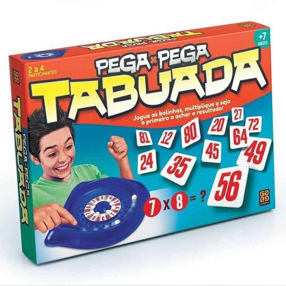 Jogo Pega Pega Tabuada - Grow