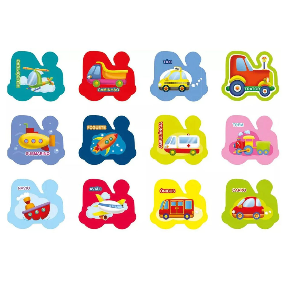 Jogo da Memória Meios de Transportes - Brincadeira de Criança