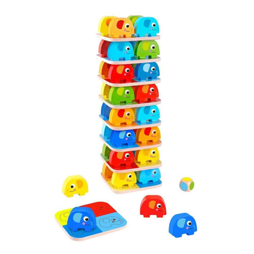 Jogo de Empilhar Elefantes - Tooky Toy