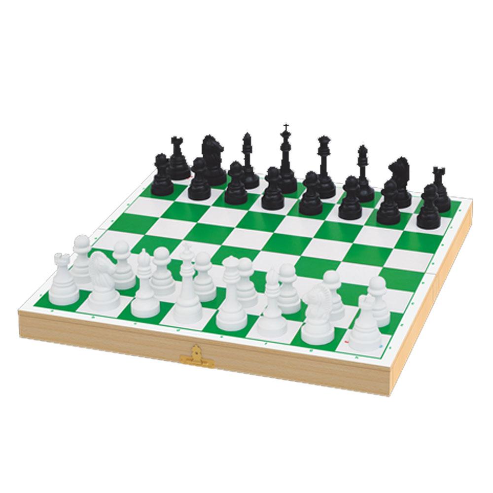 Jogo de Xadrez Escolar - Tabuleiro - Junges