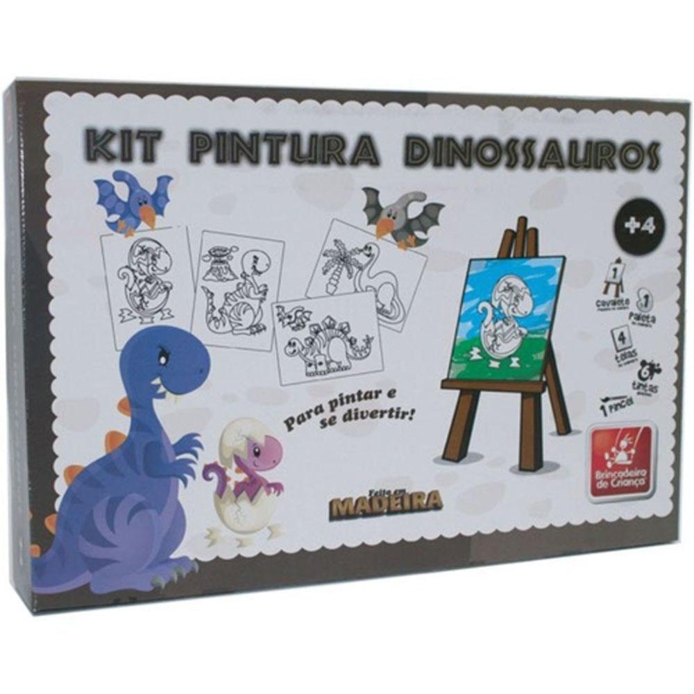 Kit Pintura Dinossauro - Brincadeira de Criança