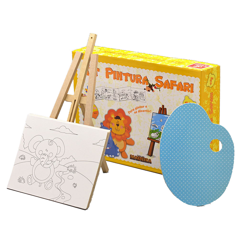 Kit Pintura Safari - Brincadeira de Criança