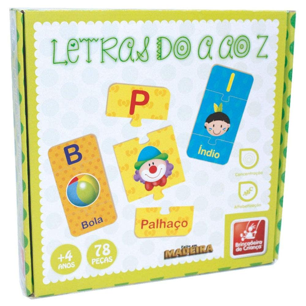 Letras do A ao Z - Brincadeira de Criança