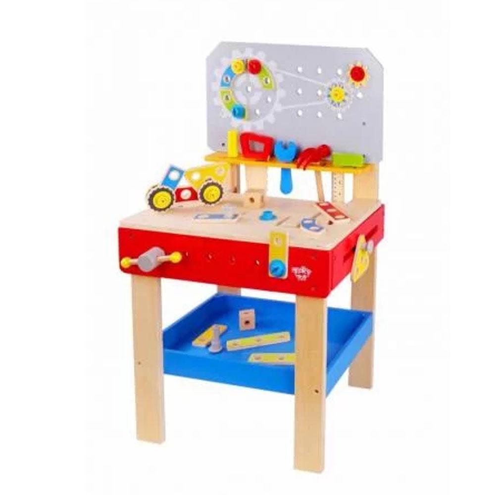 Mesa de Ferramentas em Madeira - Tooky Toy