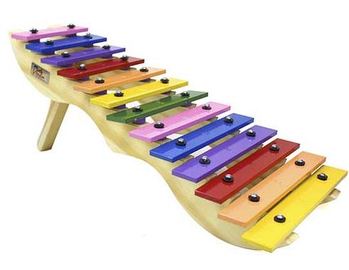 Metalofone Escada Colorido - Vibratom - Musical