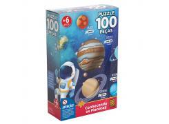 Puzzle 100 peças Conhecendo os Planetas - Grow