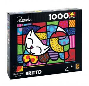 Puzzle 1000 peças Romero Britto - Cat - Grow