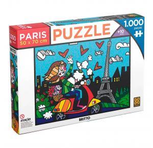 Puzzle 1000 peças Romero Britto - Paris - Grow