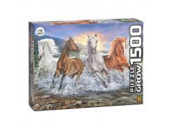 Puzzle 1500 peças Cavalos Selvagens - Quebra Cabeça - Grow