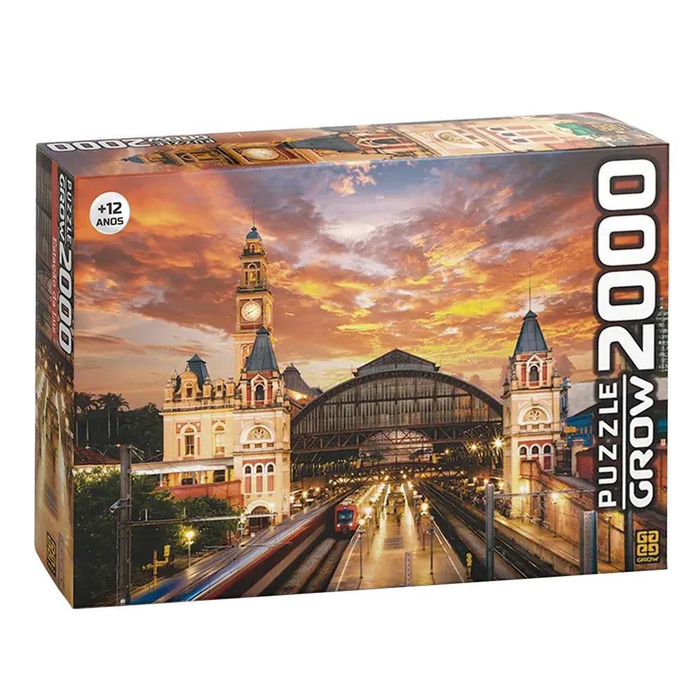 Puzzle 2000 peças Estação da Luz - Grow - Quebra Cabeça