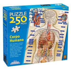 Puzzle 250 peças Corpo Humano - Grow - Quebra Cabeça