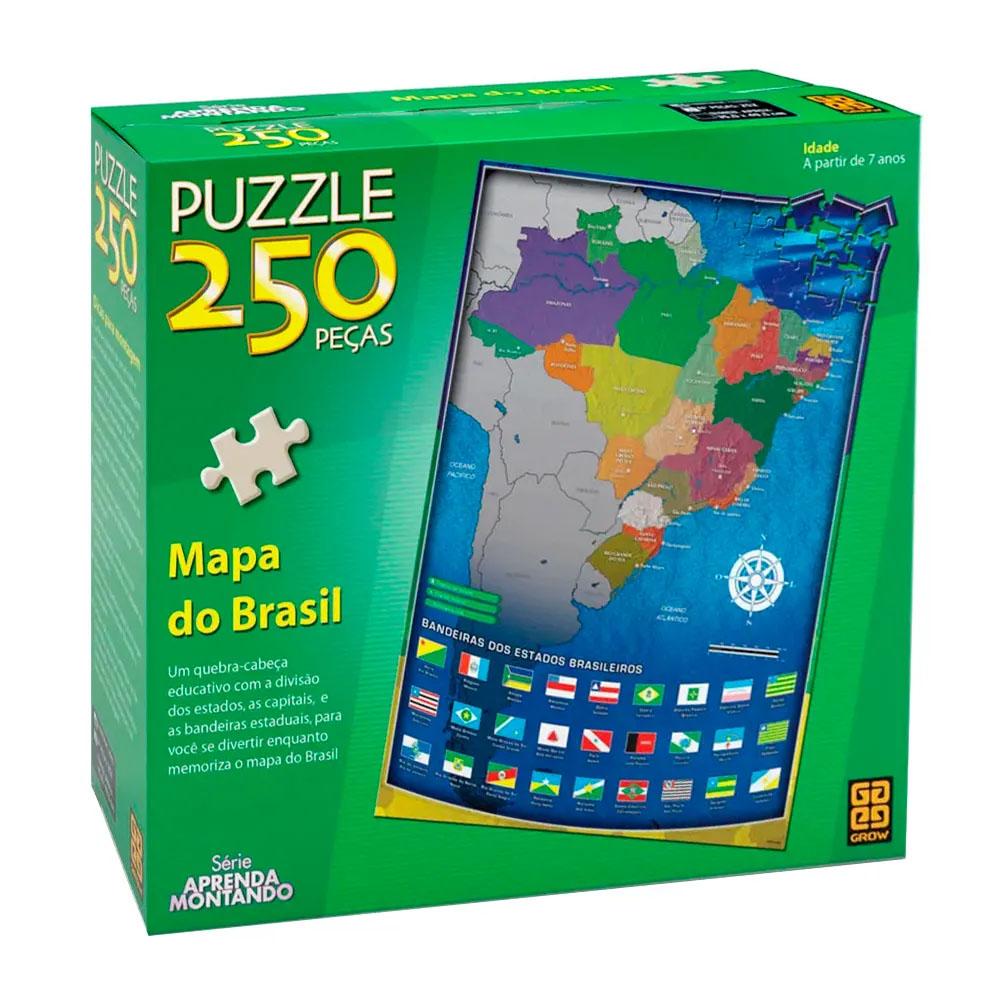 Puzzle 250 peças Mapa do Brasil - Grow