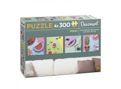 Puzzle 4 x 300 peças Decorart Verão - Quebra Cabeça - Grow