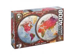 Puzzle 4000 peças Mapa-Múndi - Quebra Cabeça - Grow