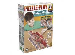 Puzzle Play Gigante Corpo Humano - Grow - Quebra Cabeça