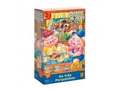 Puzzle Progressivo Monte e Conte Três Porquinhos - Grow - Quebra Cabeça