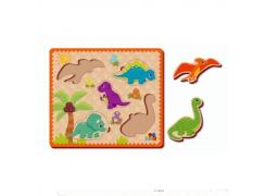 Quebra-Cabeça De Encaixe Dinossauros - Abc Brinquedos