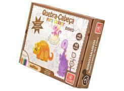 Quebra Cabeça para Colorir Dinossauro - Brincadeira de Criança