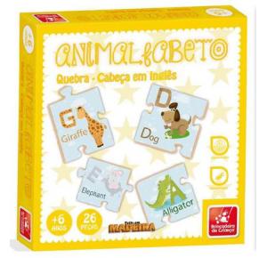 Animalfabeto  Quebra-Cabeça - Brincadeira de Criança