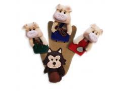 Três Porquinhos - Dedoche - Grillo Brinquedos
