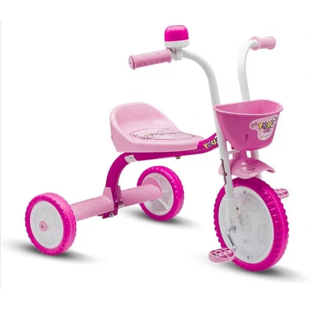 Triciclo You 3 Girl - Nathor - Rosa/Roxa