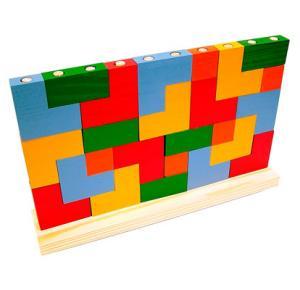 Brinquedo Educativo de Madeira - Blocos de Encaixe