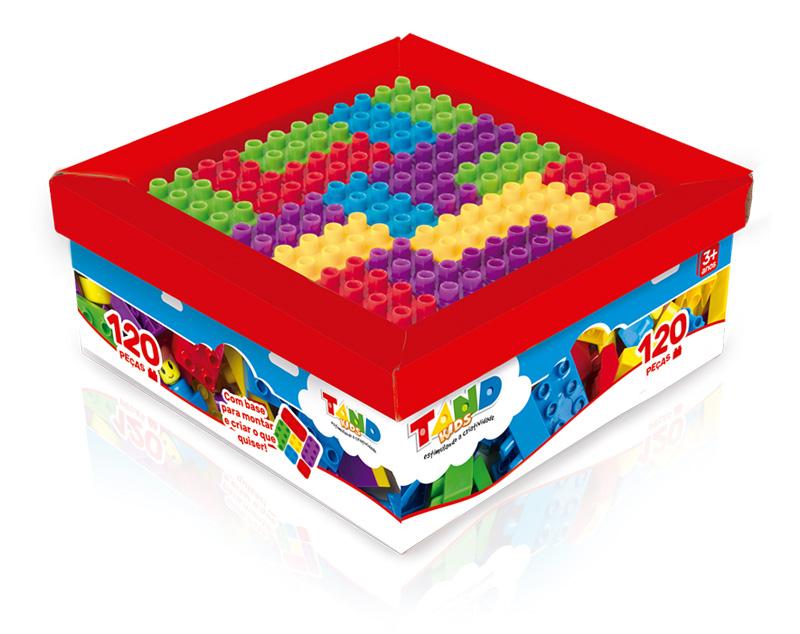 Blocos de Montar - Tand Kids – Super caixa 120 peças