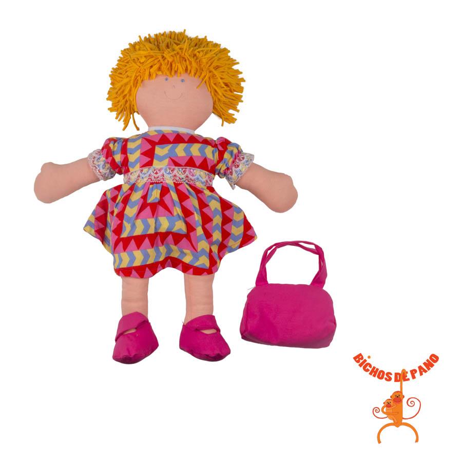 Boneca Lena (com Órgãos Internos de Pano) - Cas Brinquedos