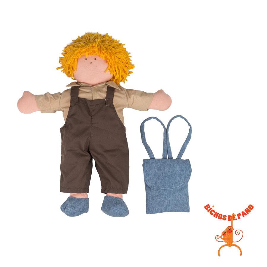 Boneco Beto (com Órgãos Internos de Pano) - Cas Brinquedos