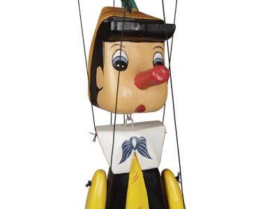 Pinóquio Grande 1 Metro - Artesanal - Marionete de Madeira Articulado