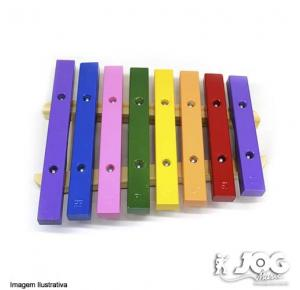Xilofone Infantil 8 Tcs Coloridas - Instrumento Musical - Vibratom