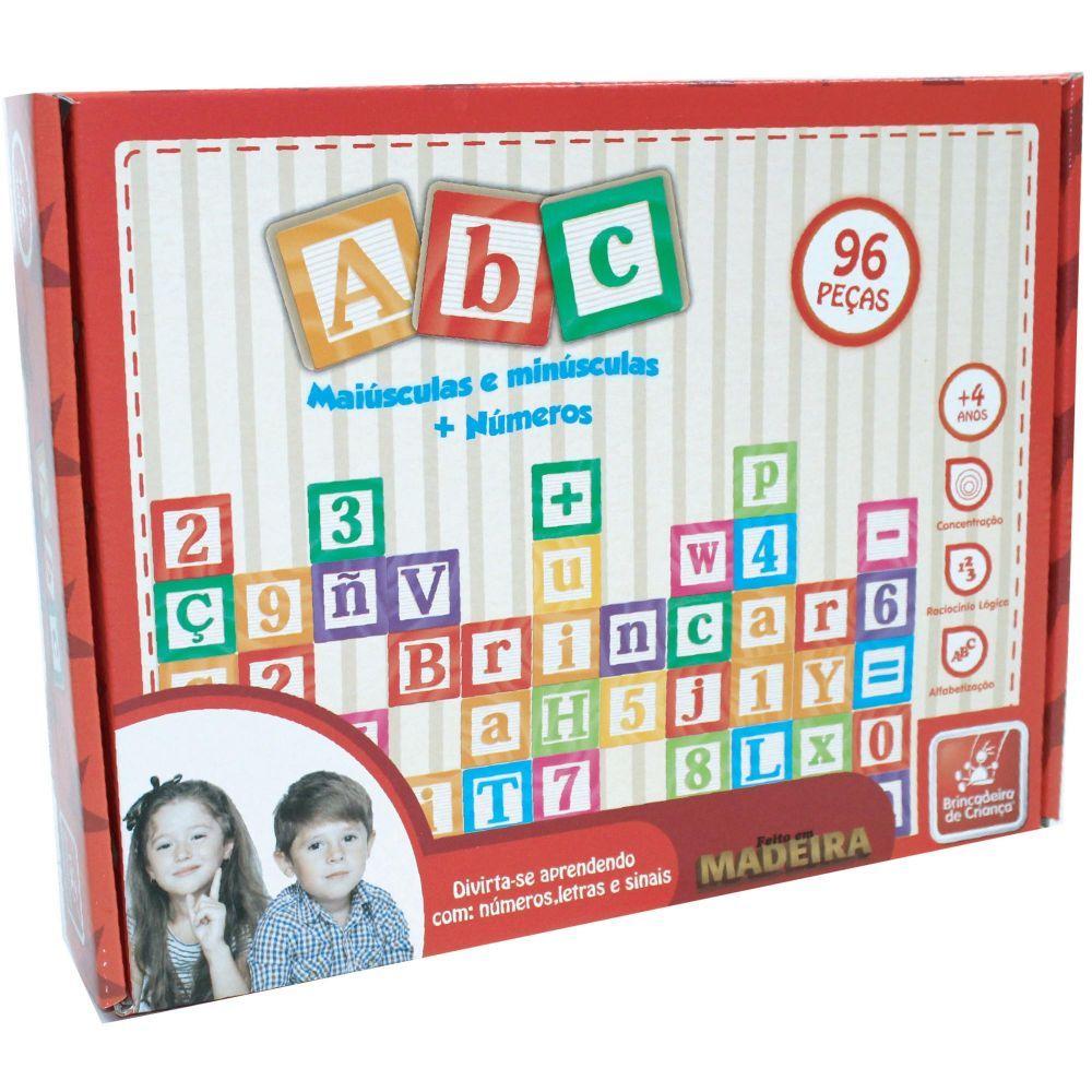ABC Maiúscula e Minúscula 96 peças - Brincadeira de Criança