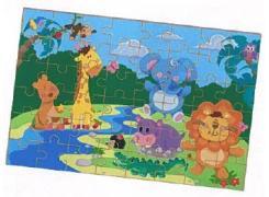 Quebra-Cabeça Gigante Safari - Brincadeira de Criança - Animais