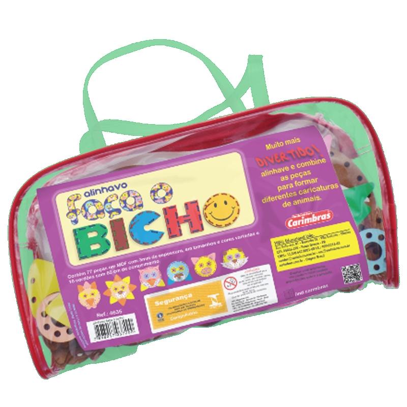 Brinquedo Educativo - Artesanato - Alinhavo Faça o Bicho